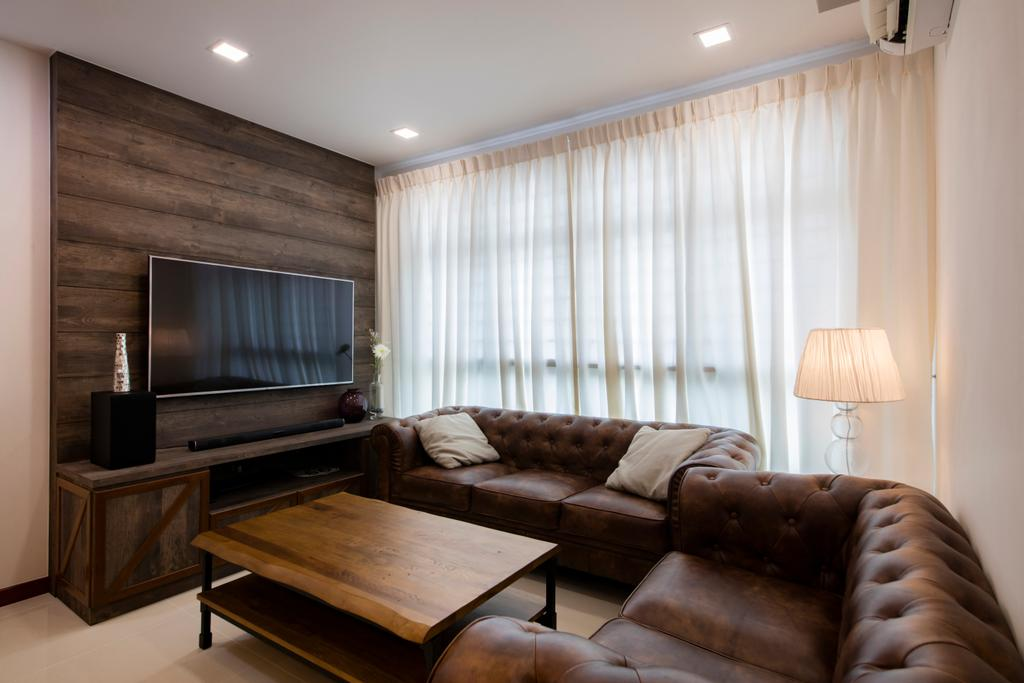 Industrial, HDB, Living Room, Yishun Street 51, Interior Designer, Butler Interior, Couch, Furniture, Indoors, Room, Lamp
