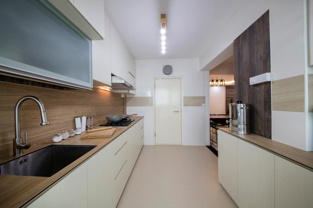 Industrial, HDB, Kitchen, Yishun Street 51, Interior Designer, Butler Interior, Tap, Indoors, Interior Design
