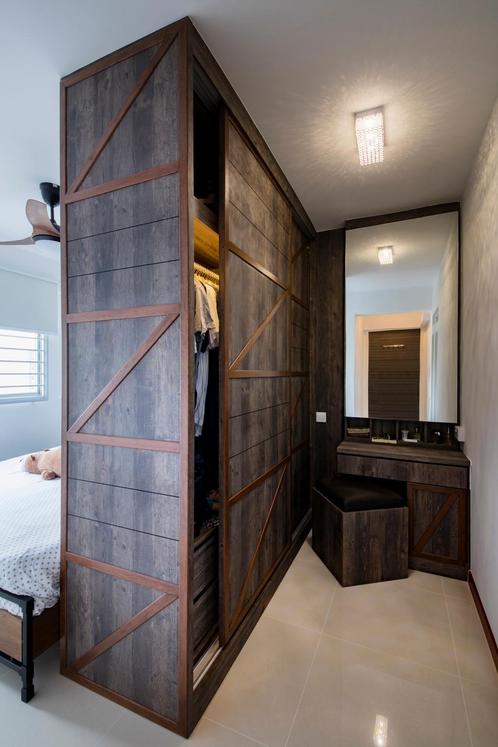 Industrial, HDB, Bedroom, Yishun Street 51, Interior Designer, Butler Interior