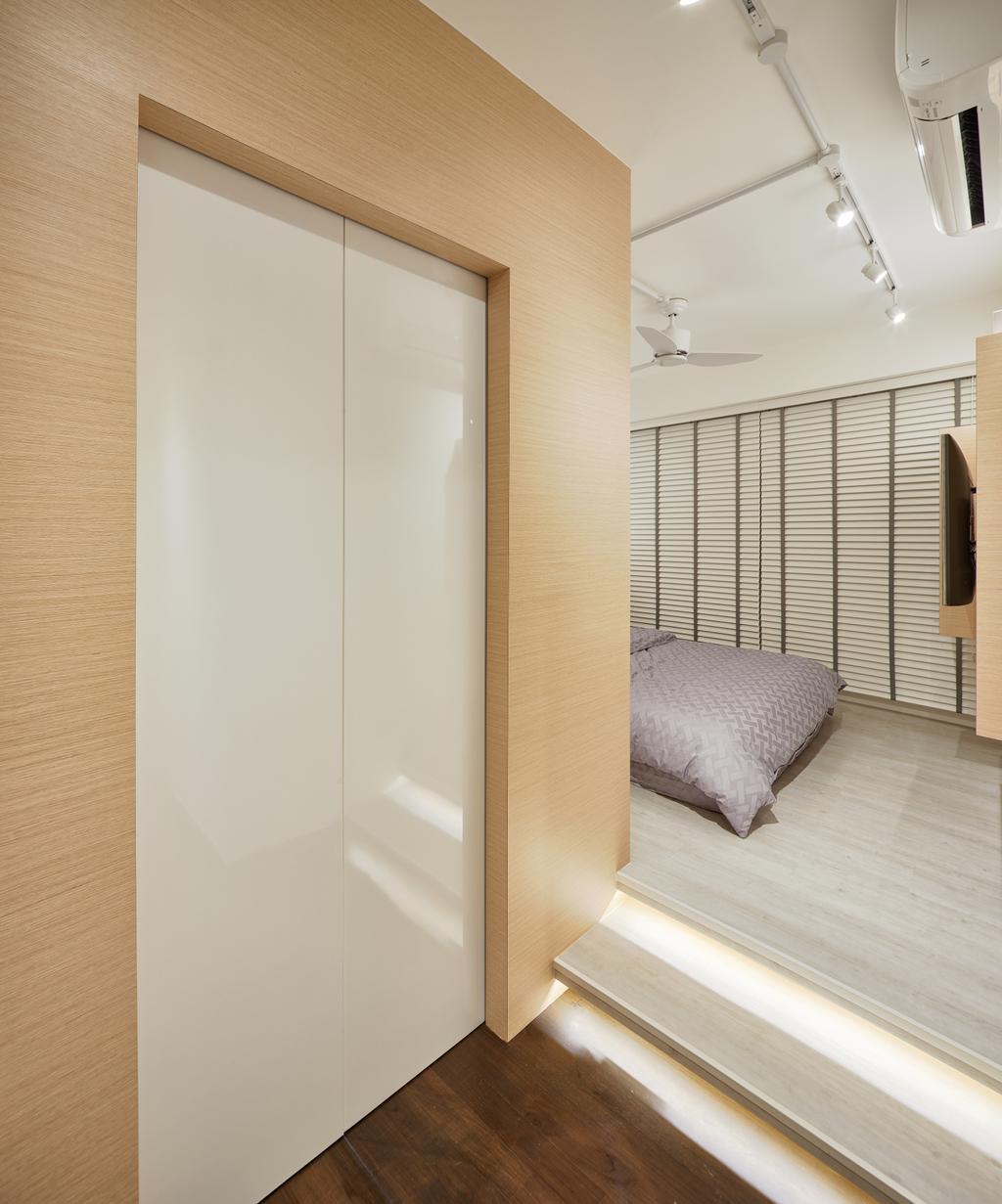 Scandinavian, HDB, Bedroom, Skyline (Block 194), Interior Designer, Absolook Interior Design, Indoors, Interior Design, Room