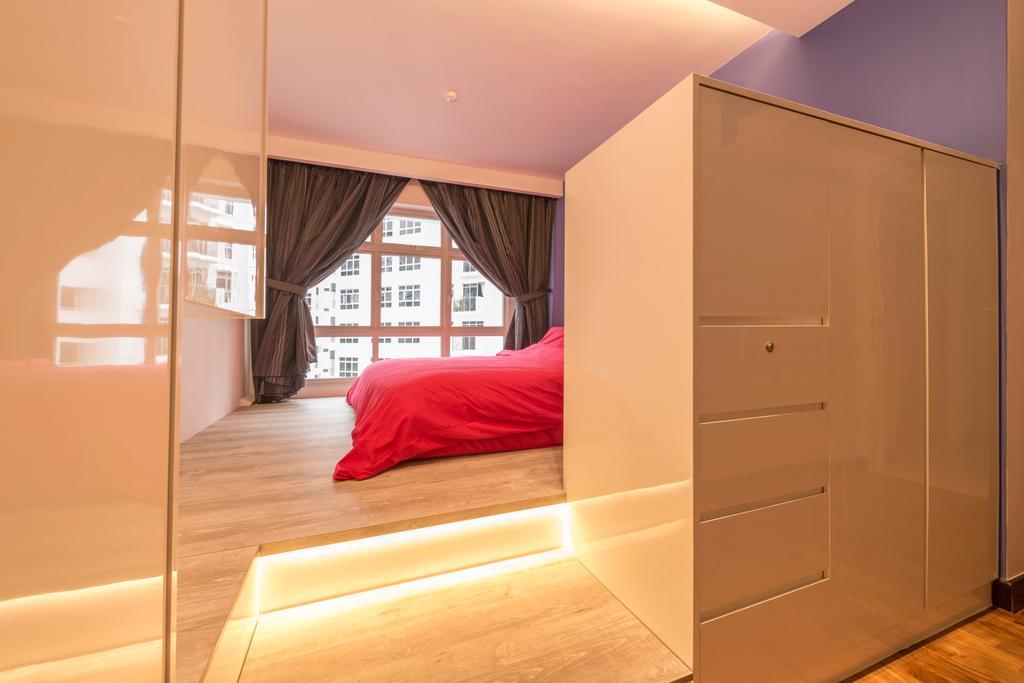 Modern, HDB, Bedroom, Compassvale Crescent, Interior Designer, Starry Homestead, Flooring