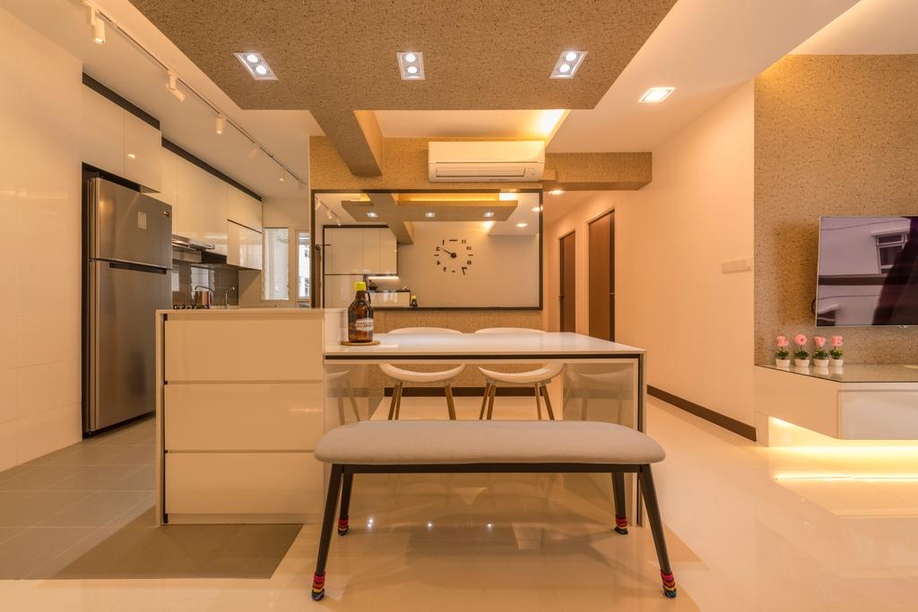 Modern, HDB, Dining Room, Compassvale Crescent, Interior Designer, Starry Homestead, Furniture, Indoors, Interior Design