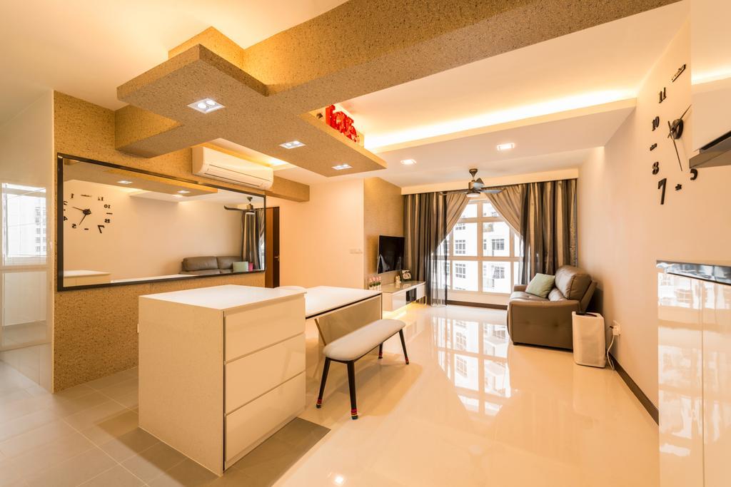 Modern, HDB, Dining Room, Compassvale Crescent, Interior Designer, Starry Homestead, Indoors, Interior Design, Furniture