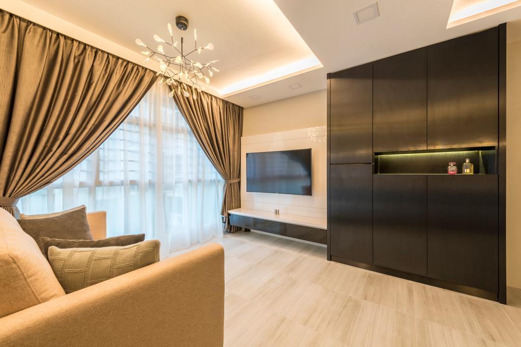 Modern, HDB, Living Room, Compassvale Drive, Interior Designer, MET Interior, Scandinavian, Couch, Furniture, Indoors, Interior Design, Fireplace, Hearth, Hardwood, Wood, Flooring