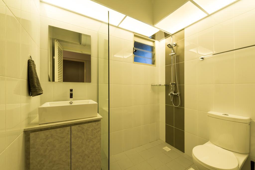 Modern, HDB, Bathroom, Compassvale Drive, Interior Designer, MET Interior, Scandinavian, Toilet, Indoors, Interior Design, Room, Appliance, Electrical Device, Microwave, Oven
