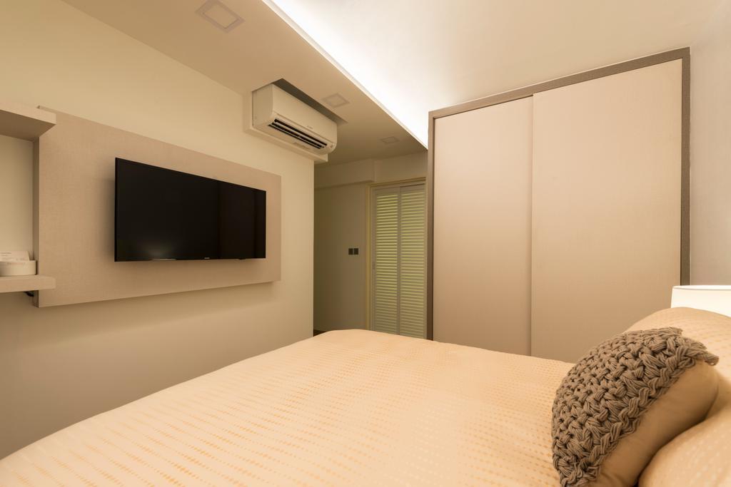 Modern, HDB, Bedroom, Compassvale Drive, Interior Designer, MET Interior, Scandinavian, Bed, Furniture, Indoors, Interior Design, Room