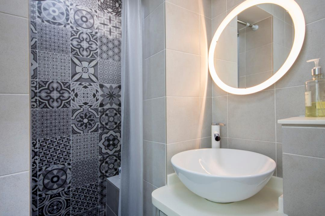 Tanjong Pagar Plaza, ELPIS Interior Design, Scandinavian, Bathroom, HDB, Curtain, Home Decor, Shower Curtain, Indoors, Interior Design, Room