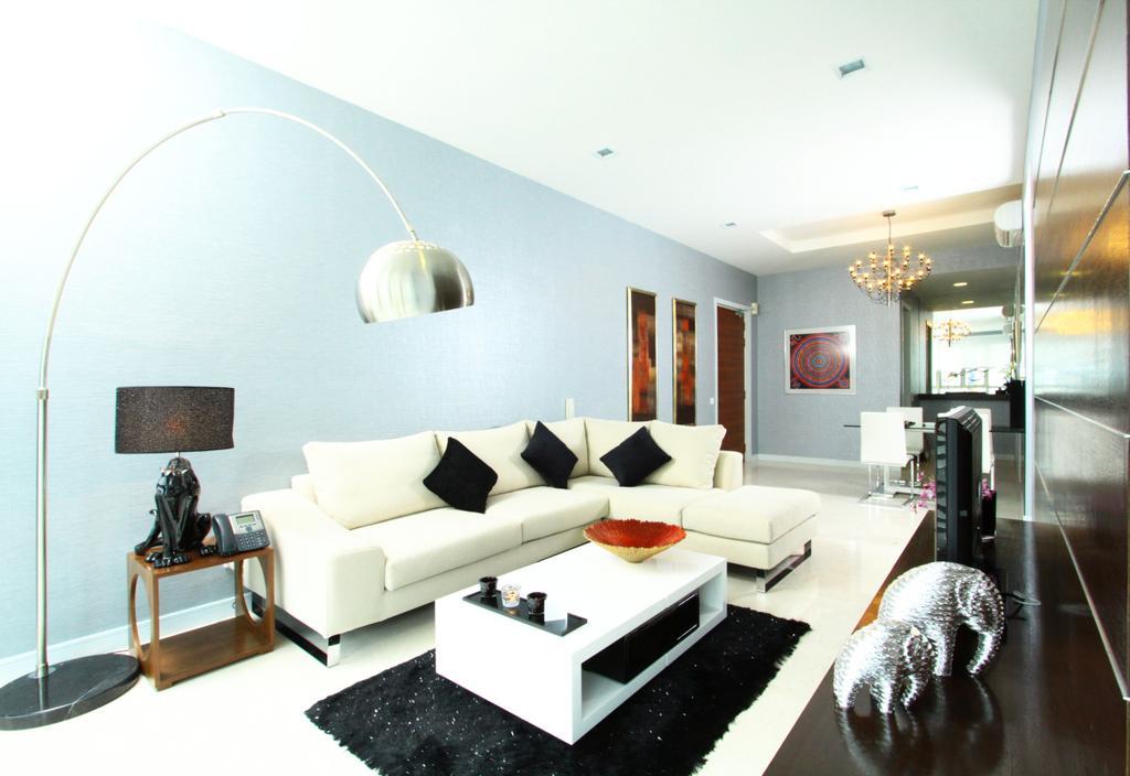 Modern, Condo, Living Room, Marc Residence @ KLCC Unit A, Interior Designer, Quest Designs, Couch, Furniture, Indoors, Interior Design, Room