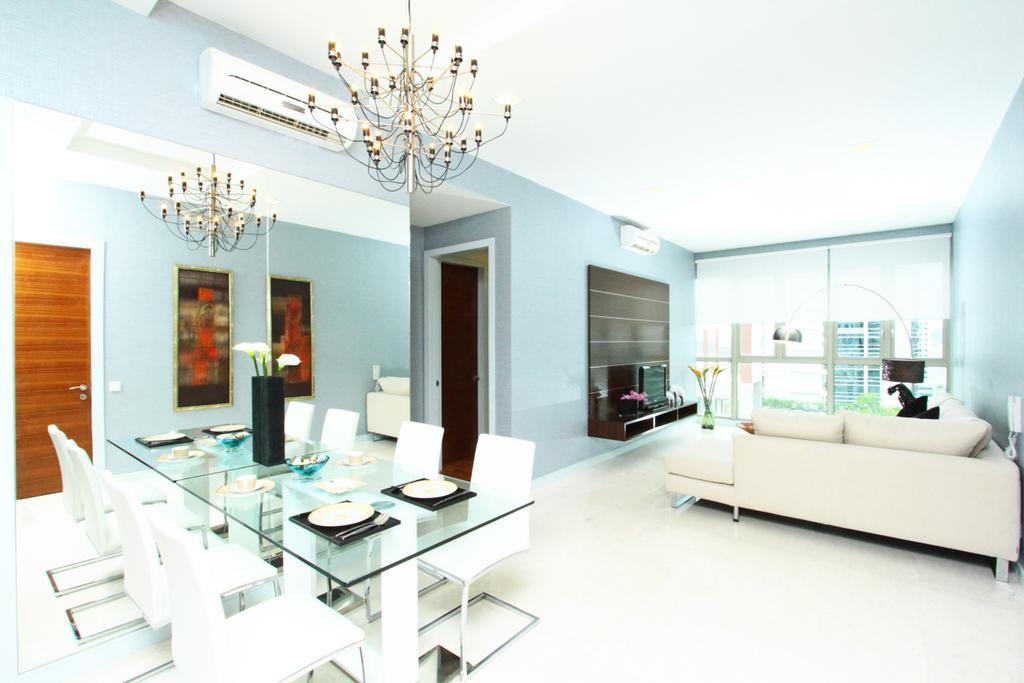 Modern, Condo, Dining Room, Marc Residence @ KLCC Unit A, Interior Designer, Quest Designs, Indoors, Room, Interior Design, Light Fixture