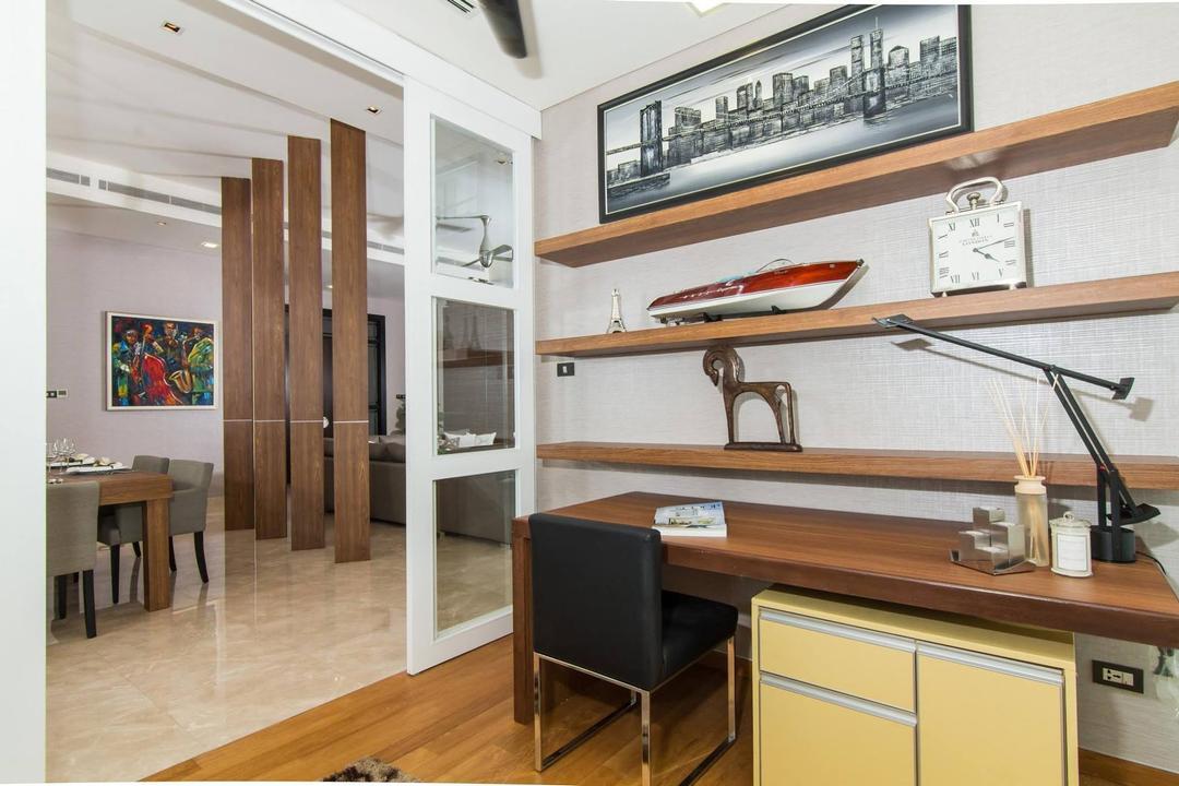 The Pearl @ KLCC, Quest Designs, Contemporary, Study, Condo, Indoors, Interior Design, Chair, Furniture, Art, Art Gallery