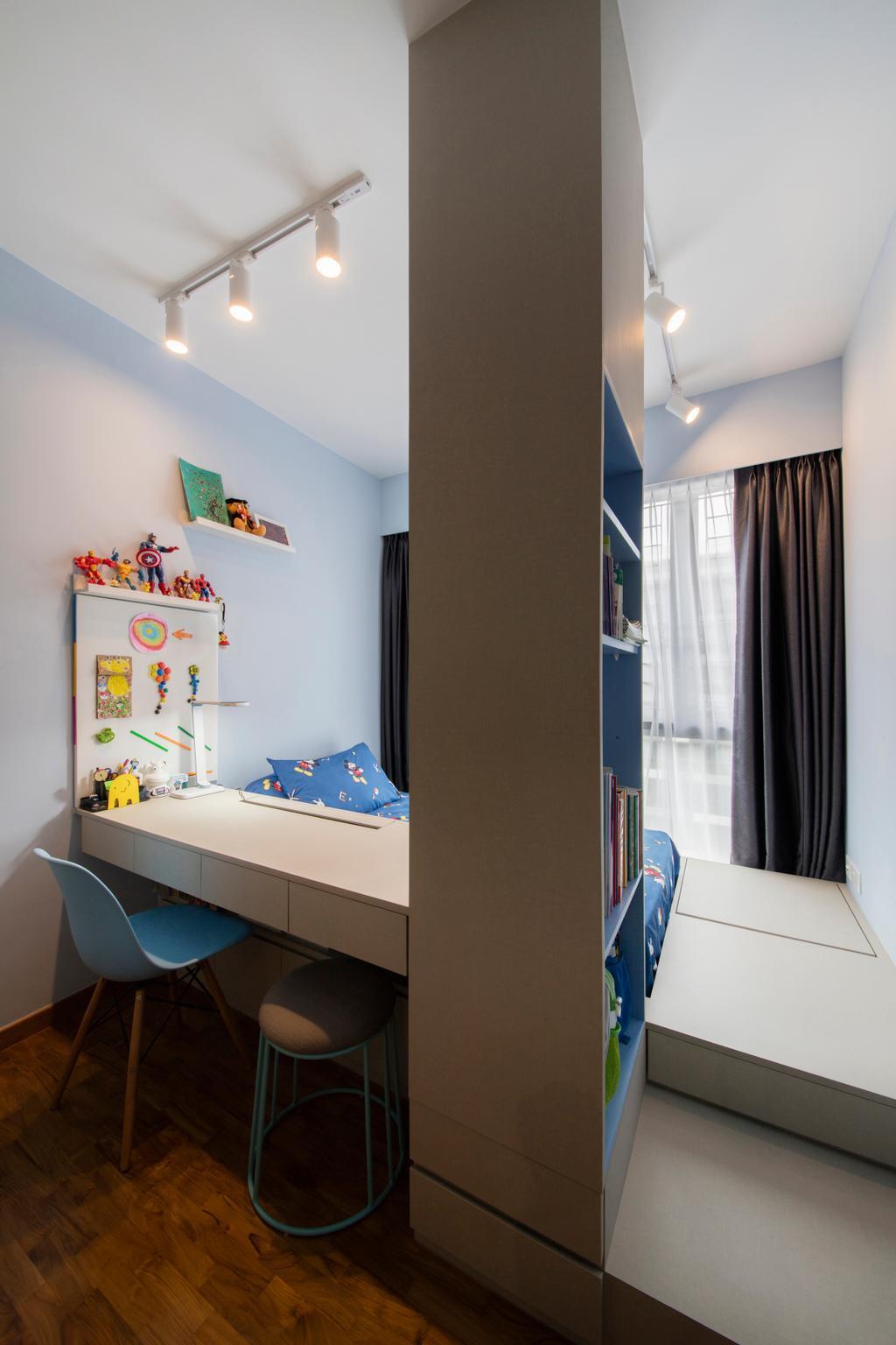 Scandinavian, HDB, Bedroom, Skypark Residences, Interior Designer, Fineline Design, Indoors, Interior Design, Room