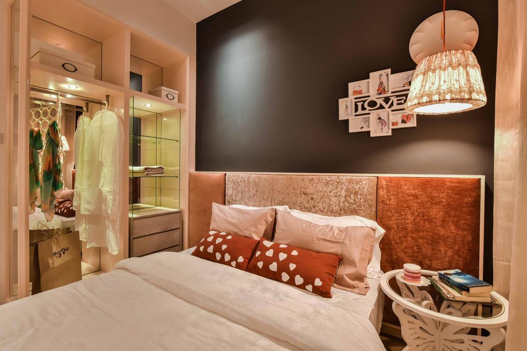 Sime Darby Melawati, Type B, SQFT Space Design Management, Contemporary, Bedroom, Condo, Lamp, Lampshade, Shop, Window Display, Bed, Furniture, Indoors, Interior Design, Room