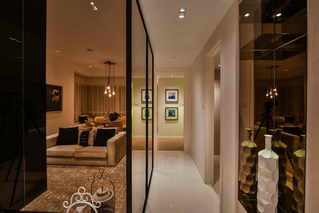 Contemporary, Condo, Sime Darby Melawati, Type B, Interior Designer, SQFT Space Design Management, Couch, Furniture, Indoors, Interior Design