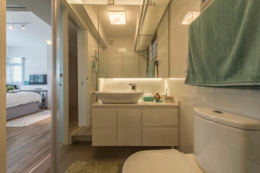 Scandinavian, HDB, Bathroom, Sumang Link (Block 313C), Interior Designer, erstudio, Indoors, Interior Design, Room