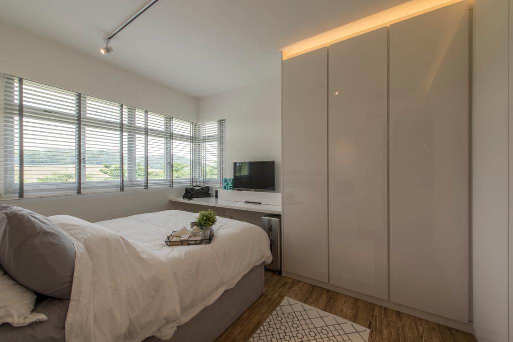 Scandinavian, HDB, Bedroom, Sumang Link (Block 313C), Interior Designer, erstudio, Closet, Furniture, Wardrobe, Building, Housing, Indoors