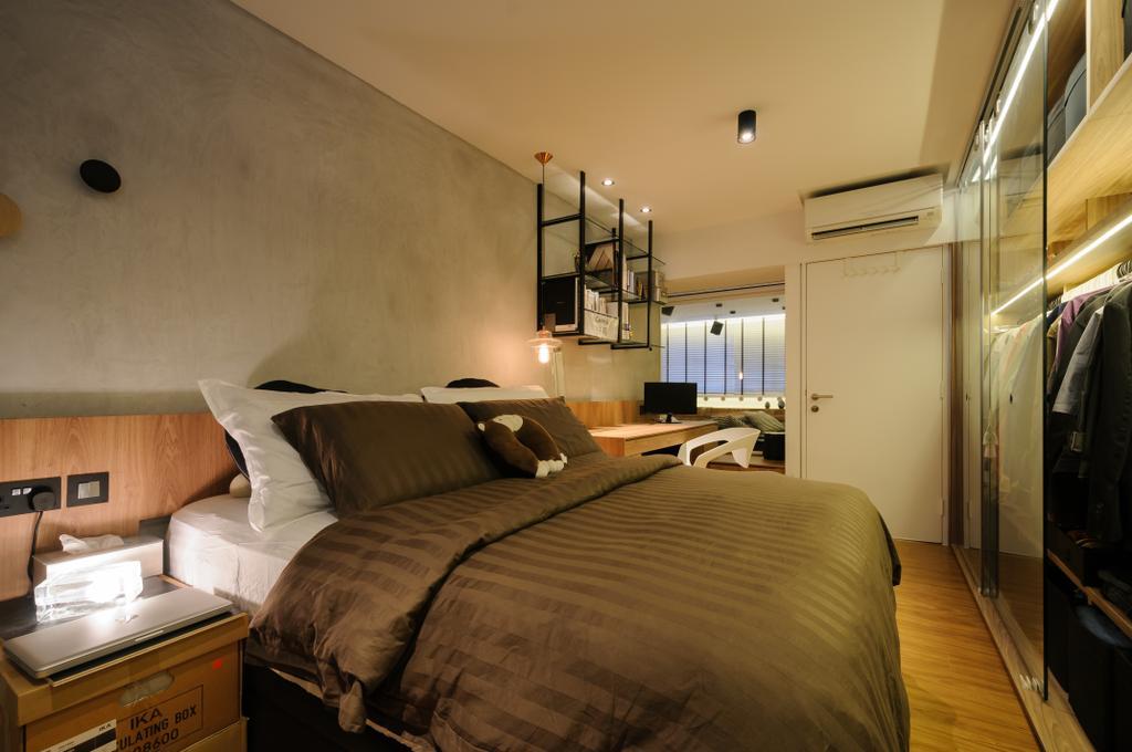 Modern, HDB, Bedroom, Serangoon Avenue 3, Interior Designer, erstudio, Scandinavian, Building, Hostel, Housing, Indoors, Bed, Furniture
