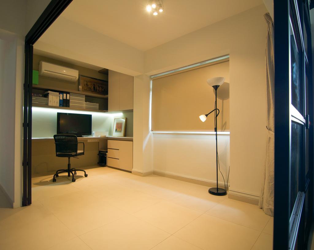 Scandinavian, HDB, Study, Cantonment Close, Interior Designer, Seven Heaven, Indoors, Interior Design, Electronics, Monitor, Screen, Tv, Television, Corridor