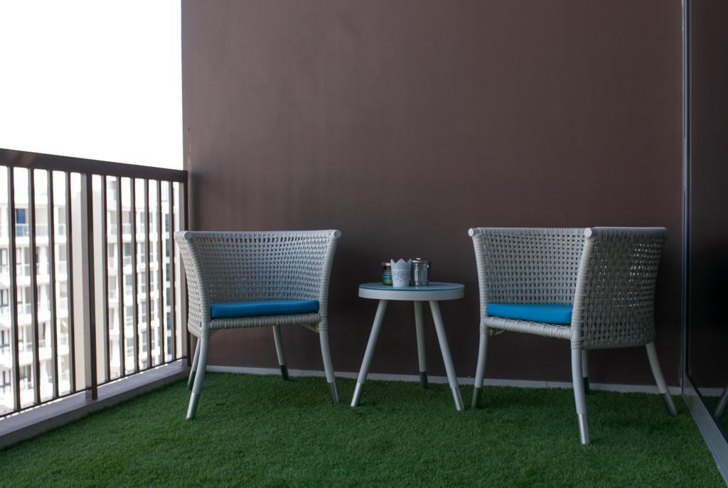 Modern, Condo, Balcony, Austville Residences, Interior Designer, Seven Heaven, Minimalistic, Chair, Furniture