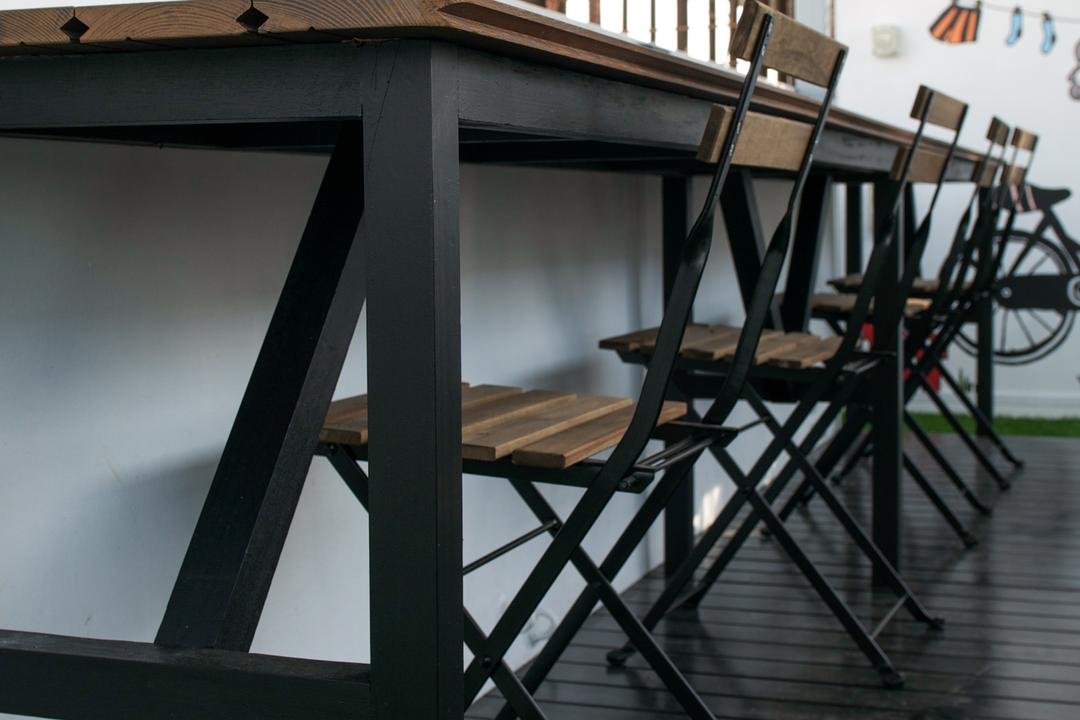 Austville Residences, Seven Heaven, Modern, Minimalistic, Balcony, Condo, Chair, Furniture, Dining Table, Table, Triangle