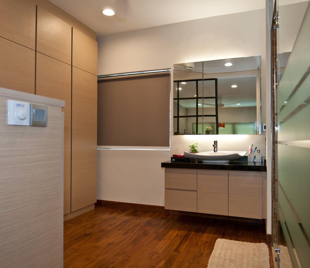 Modern, Landed, Bathroom, Jalan Chempah, Interior Designer, Seven Heaven, Appliance, Electrical Device, Microwave, Oven, Indoors, Interior Design