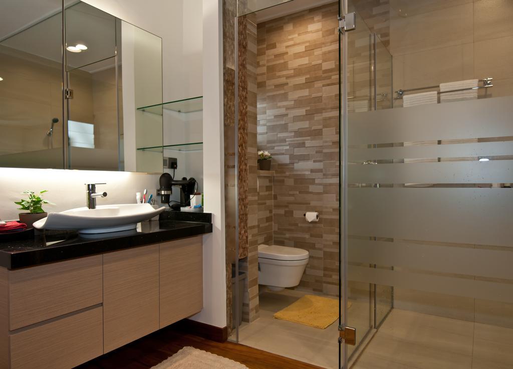 Modern, Landed, Bathroom, Jalan Chempah, Interior Designer, Seven Heaven, Toilet, Indoors, Interior Design, Kitchen, Room
