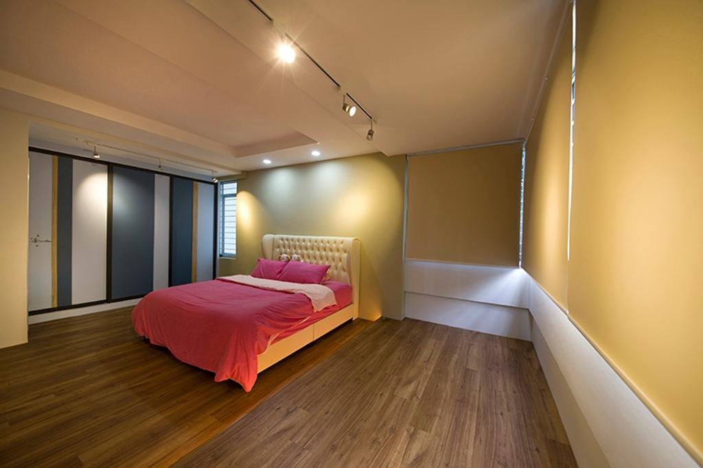 Minimalistic, HDB, Bedroom, Lim Liak Street, Interior Designer, Space Factor, Track Lights, Wardrobe, Indoors, Interior Design