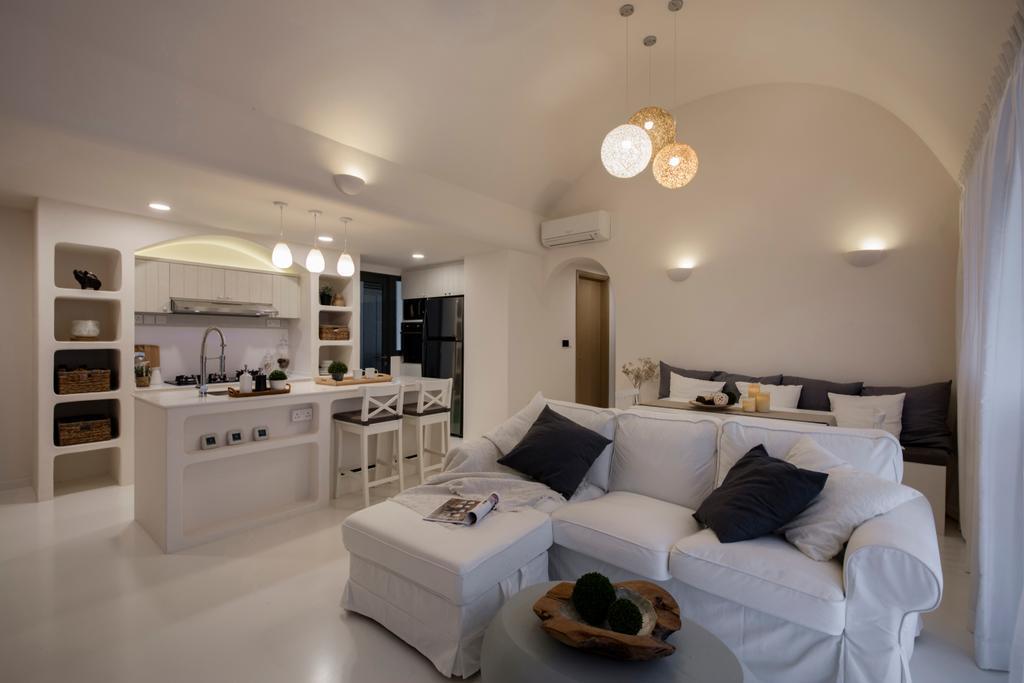 Eclectic, Condo, Living Room, Skypark Residences, Interior Designer, Edge Interior, Couch, Furniture, Indoors, Interior Design