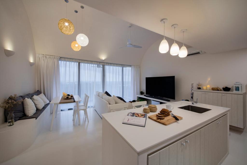 Eclectic, Condo, Dining Room, Skypark Residences, Interior Designer, Edge Interior, Indoors, Interior Design, Room