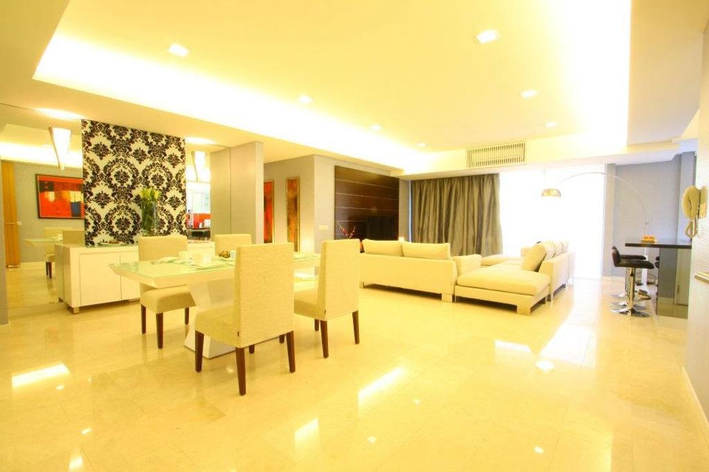 Modern, Condo, Living Room, Il Hampshire, Interior Designer, Quest Designs, Dining Table, Furniture, Table, Indoors, Interior Design, Room