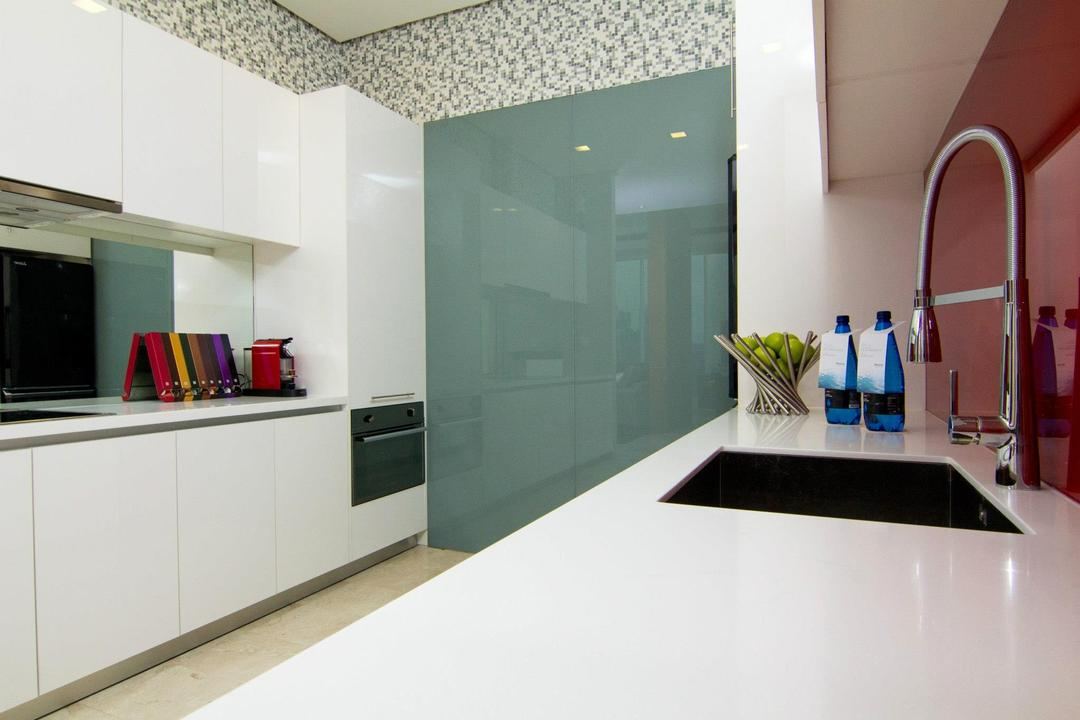 ViPod Residences, Quest Designs, Contemporary, Kitchen, Condo, Sink, Tap, Furniture, Sideboard, Appliance, Electrical Device, Oven, Indoors, Interior Design, Jar, Pottery, Vase, Flooring