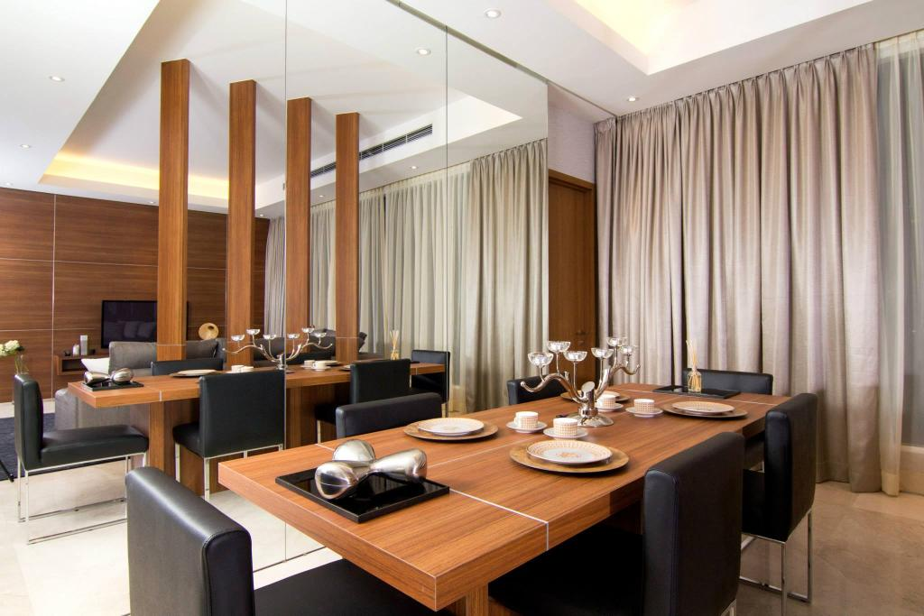 Contemporary, Condo, Dining Room, ViPod Residences, Interior Designer, Quest Designs, Conference Room, Indoors, Meeting Room, Room, Couch, Furniture, Dining Table, Table, Interior Design