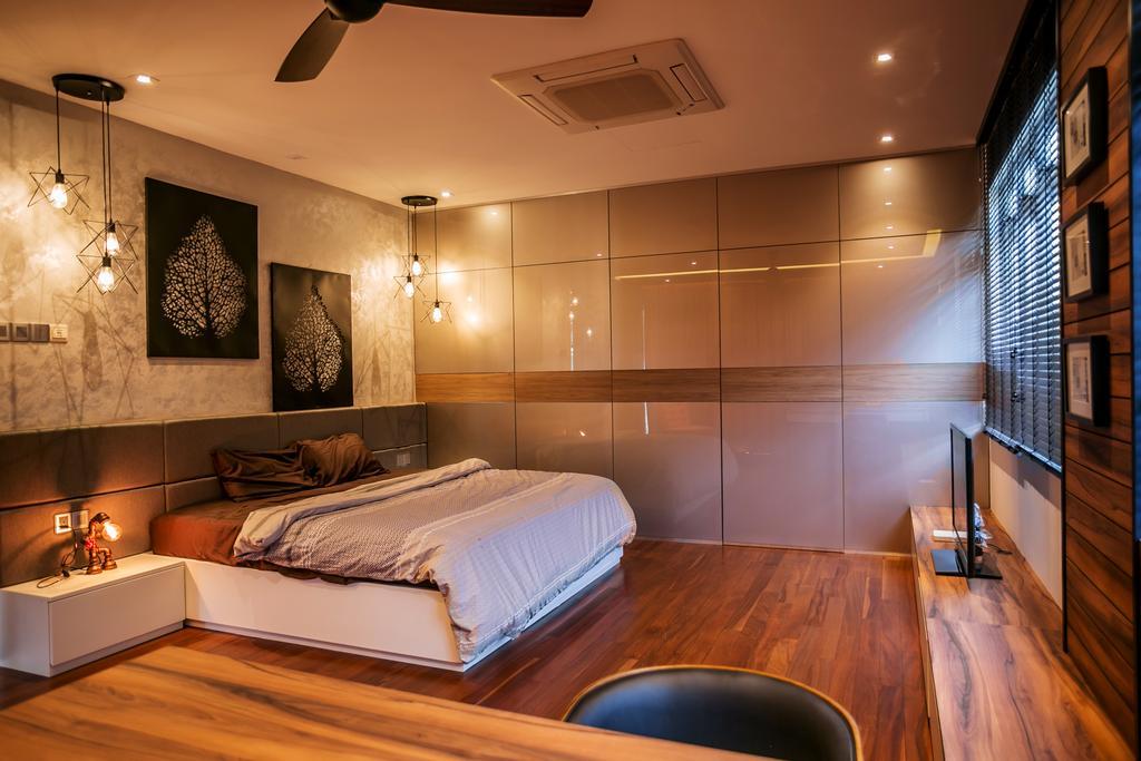 Landed, Bedroom, Akira Sierra, Interior Designer, M innovative Builders, Bed, Furniture, Indoors, Interior Design, Light Fixture