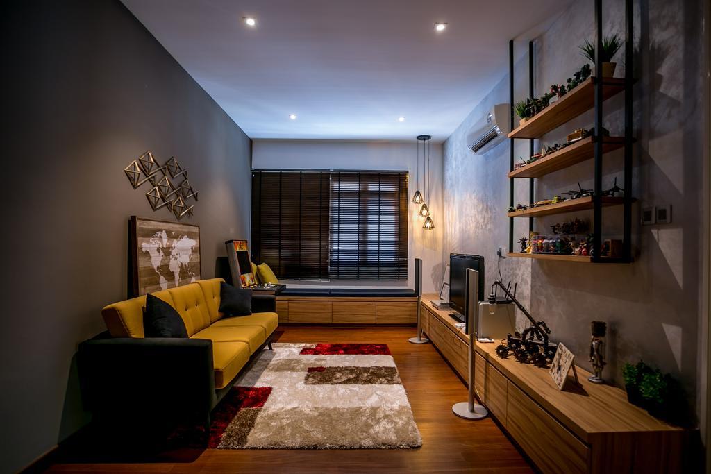 Landed, Living Room, Akira Sierra, Interior Designer, M innovative Builders, Flora, Jar, Plant, Potted Plant, Pottery, Vase, Couch, Furniture, Indoors, Interior Design, Apartment, Building, Housing, Loft