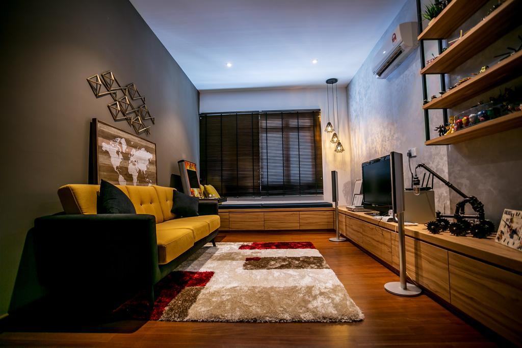 Landed, Living Room, Akira Sierra, Interior Designer, M innovative Builders, Couch, Furniture, Indoors, Interior Design, Room