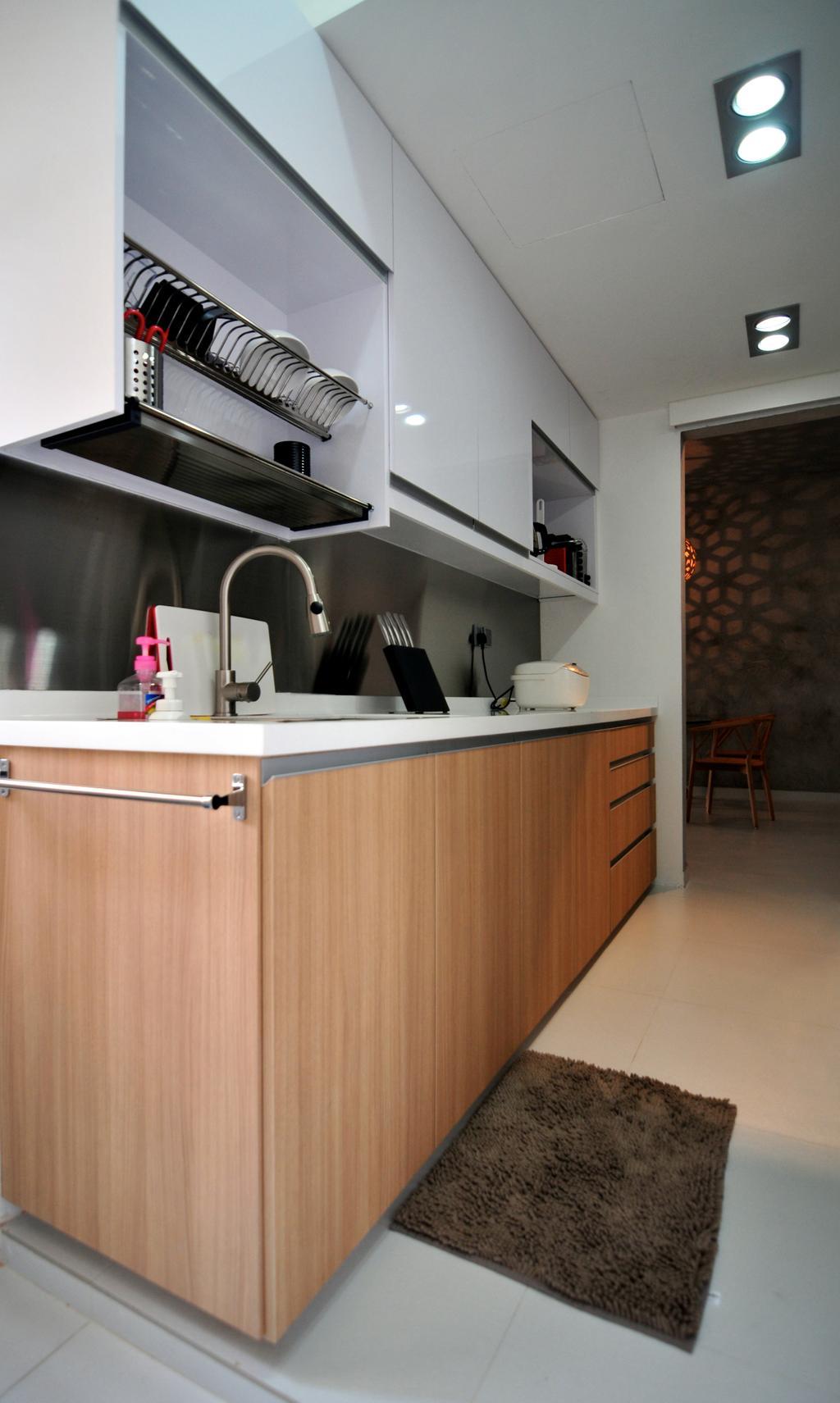 Modern, Condo, Kitchen, River Place, Interior Designer, Seven Heaven, Chair, Furniture, Bench