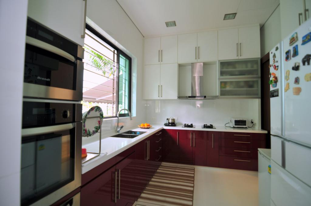 Modern, Landed, Kitchen, Joo Chiat Lane, Interior Designer, Seven Heaven, Appliance, Electrical Device, Oven, Indoors, Interior Design, Room