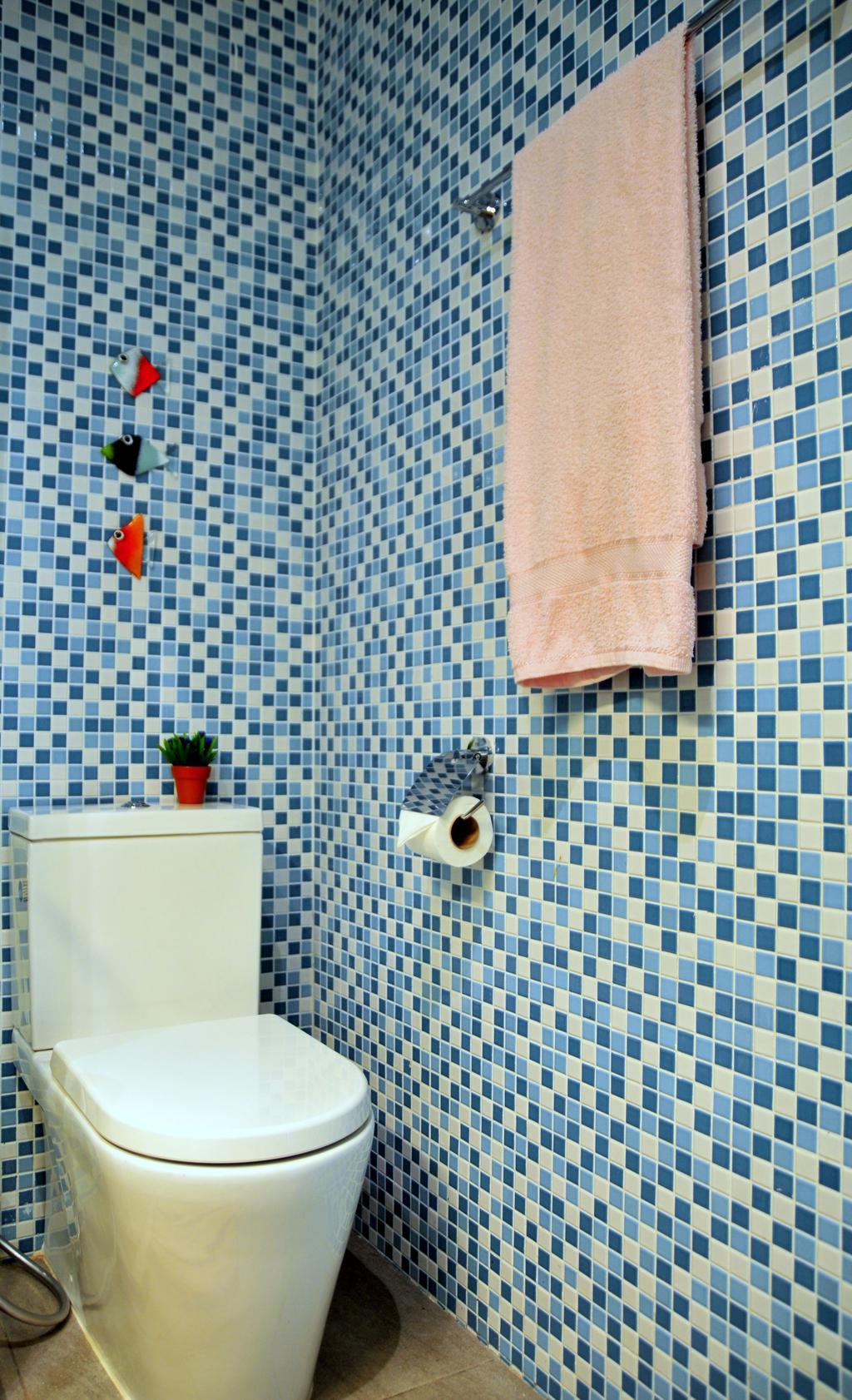 Contemporary, Condo, Bathroom, Clementi Park, Interior Designer, Seven Heaven, Blanket, Home Decor