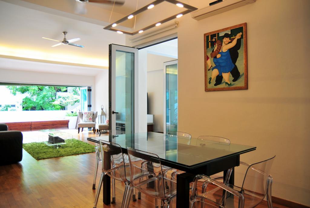 Contemporary, Condo, Dining Room, Clementi Park, Interior Designer, Seven Heaven, Chair, Furniture, Indoors, Interior Design, Room, Dining Table, Table, Sink, Art, Painting