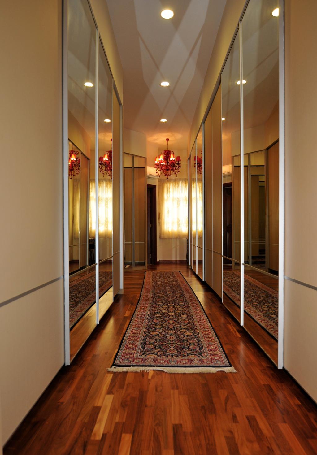 Transitional, Landed, Bedroom, Greenwood Avenue, Interior Designer, Seven Heaven, Light Fixture, Corridor, Floor, Flooring