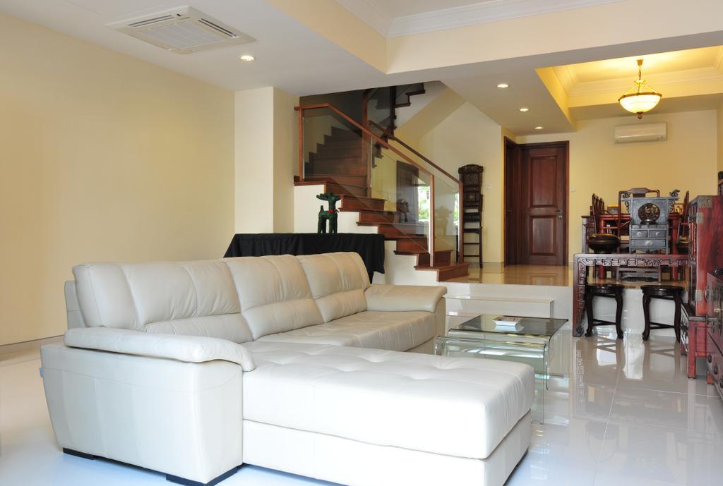 Transitional, Landed, Living Room, Greenwood Avenue, Interior Designer, Seven Heaven, Couch, Furniture, Indoors, Interior Design
