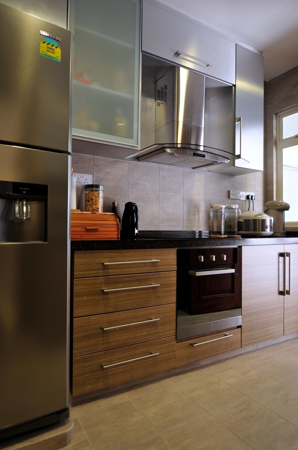 Transitional, Landed, Greenwood Avenue, Interior Designer, Seven Heaven, Indoors, Interior Design, Kitchen, Room, Appliance, Electrical Device, Oven, Fridge, Refrigerator