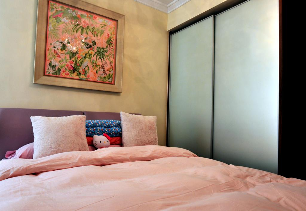 Transitional, Landed, Bedroom, Greenwood Avenue, Interior Designer, Seven Heaven, Bed, Furniture, Couch, Art, Indoors, Interior Design, Room, Painting
