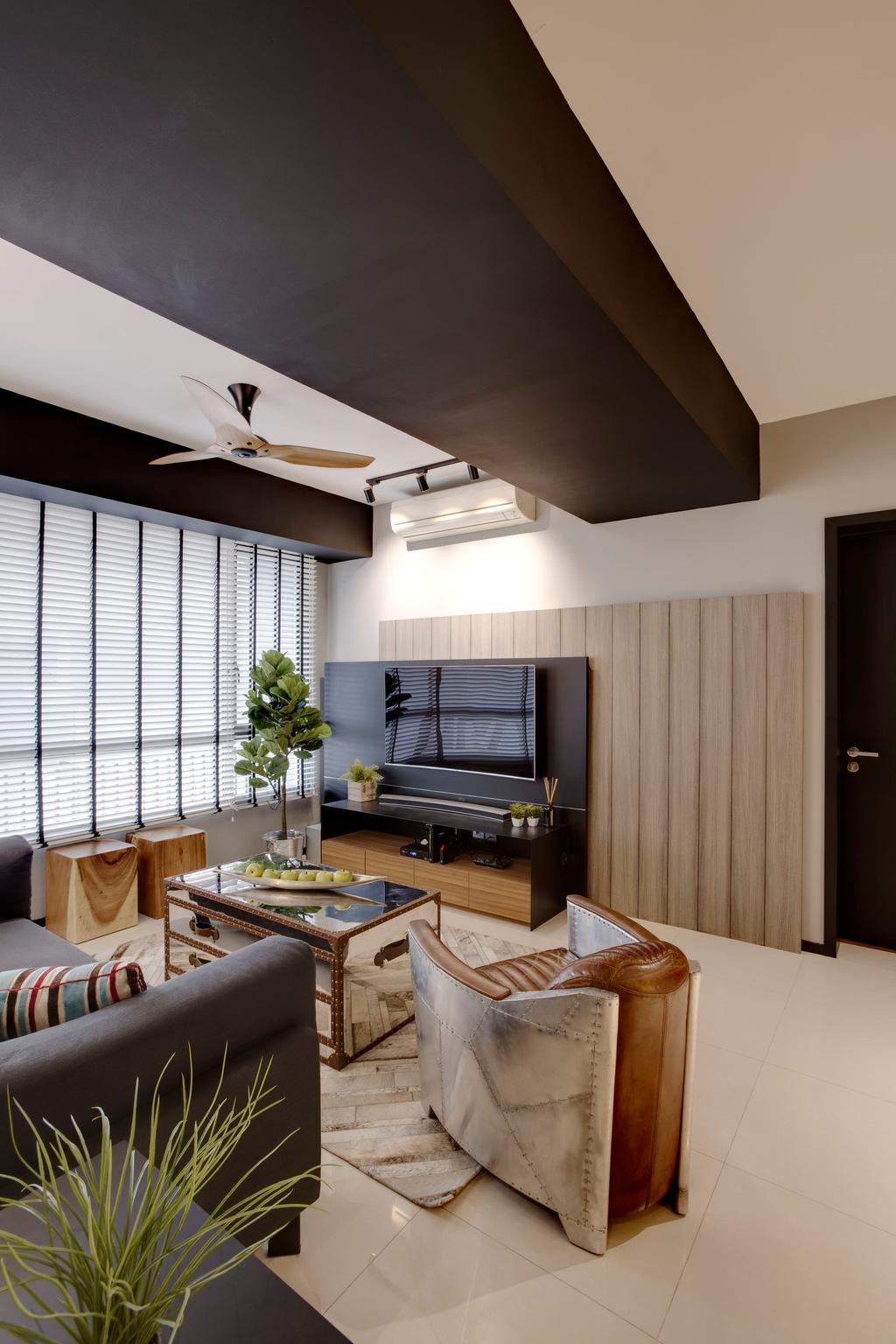 Modern, Condo, Living Room, Meadows @ Peirce, Interior Designer, Juz Interior, Scandinavian, Indoors, Interior Design, Sink