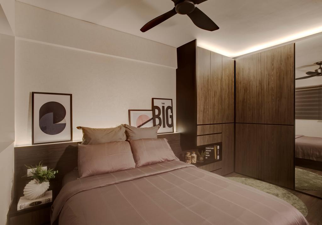 Modern, HDB, Bedroom, Ang Mo Kio Avenue 10, Interior Designer, Juz Interior, Flora, Jar, Plant, Potted Plant, Pottery, Vase