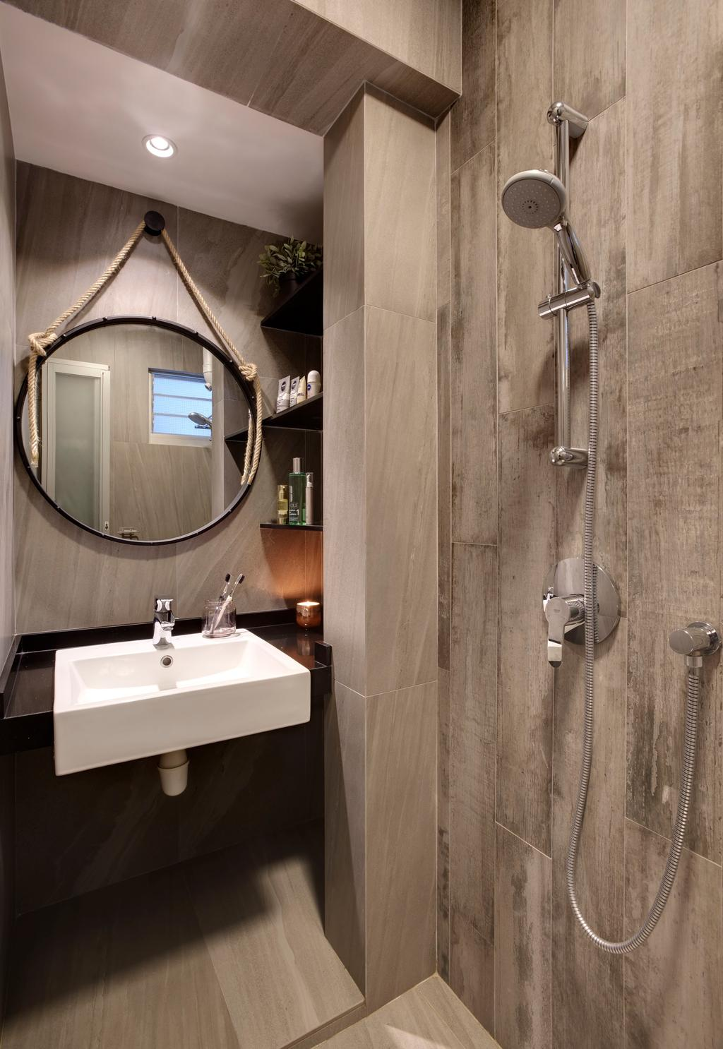 Modern, HDB, Bathroom, Ang Mo Kio Avenue 10, Interior Designer, Juz Interior, Sink, Indoors, Interior Design, Room