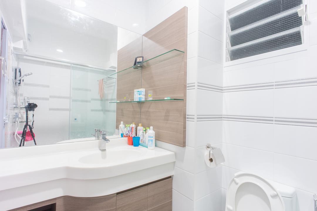 Upper Boon Keng Road (Block 8B), Team Interior Design, Contemporary, HDB, Air Conditioner, Bathroom, Indoors, Interior Design, Room