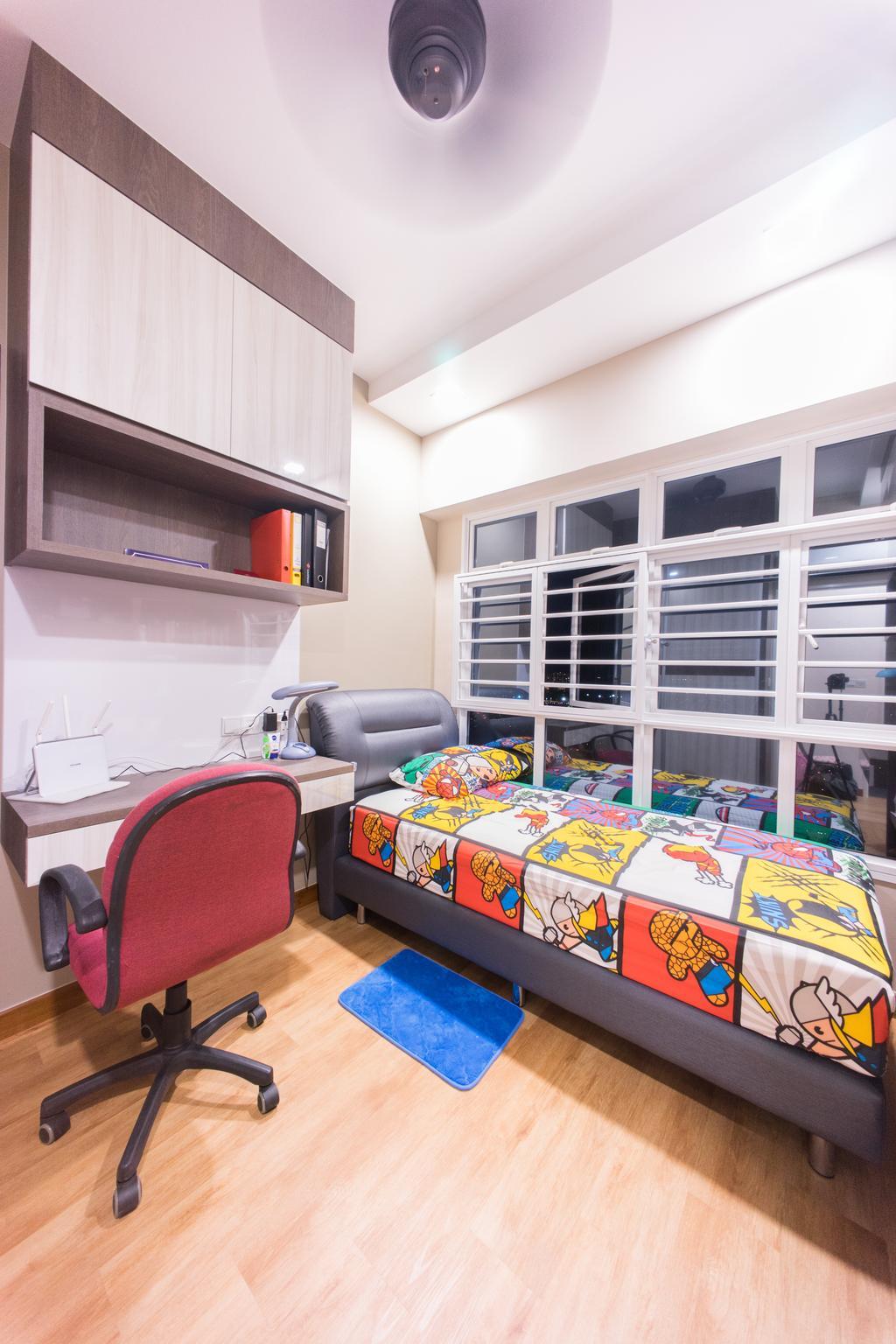 Contemporary, HDB, Bedroom, Upper Boon Keng Road (Block 8B), Interior Designer, Team Interior Design, Chair, Furniture