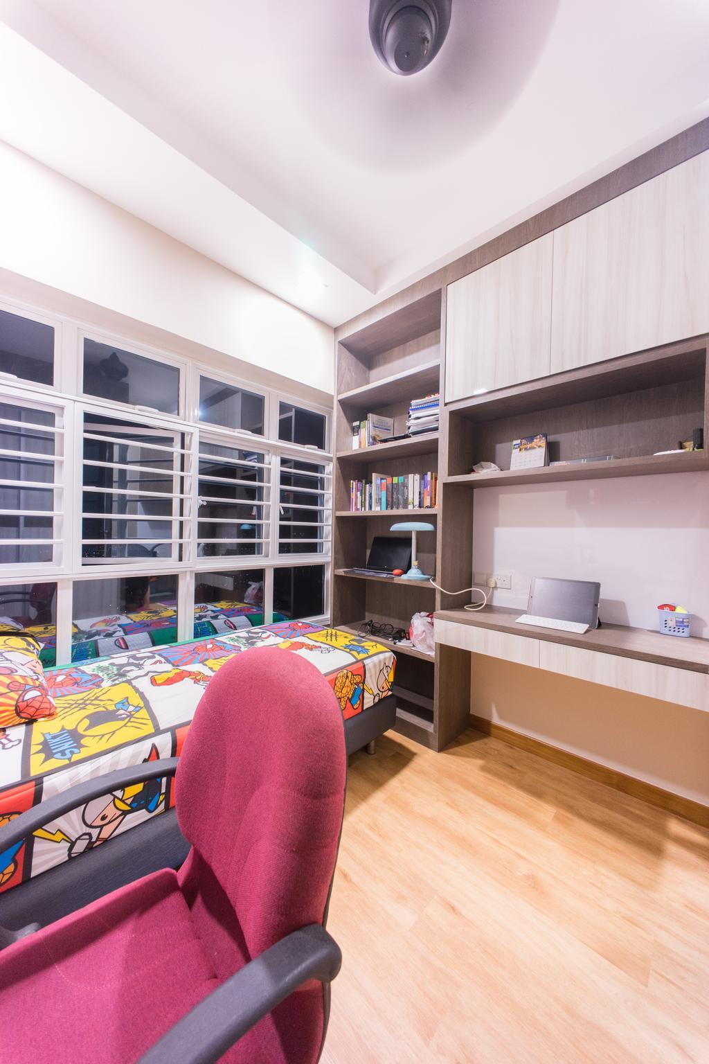 Contemporary, HDB, Bedroom, Upper Boon Keng Road (Block 8B), Interior Designer, Team Interior Design, Home Decor, Quilt