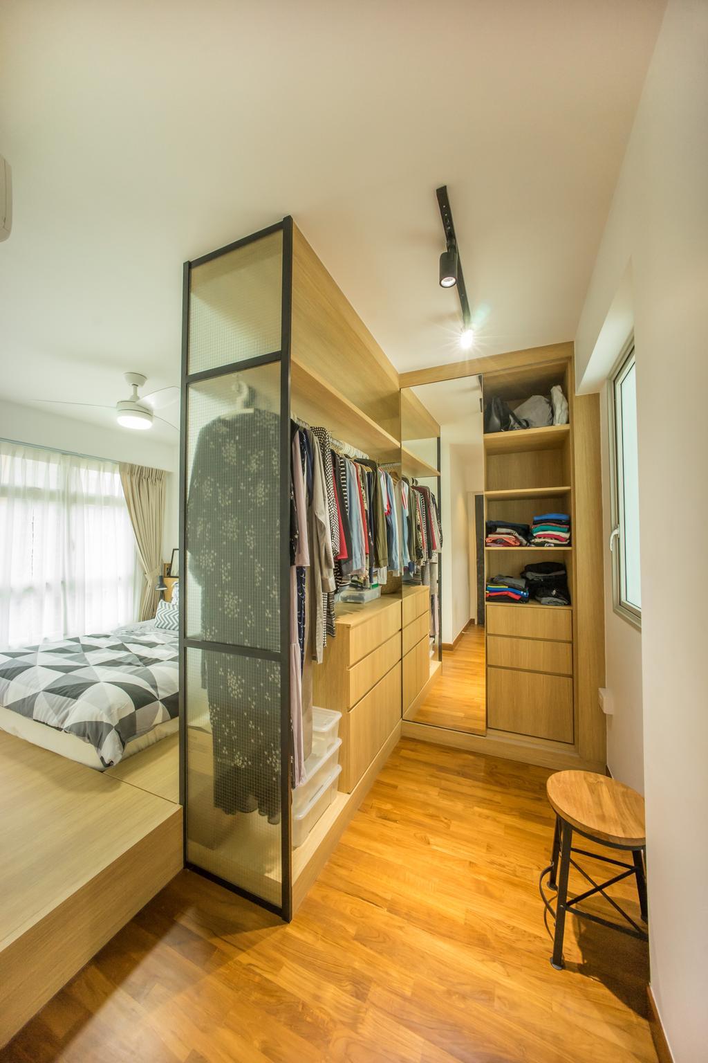 Scandinavian, HDB, Bedroom, Compassvale Drive (Block 216B), Interior Designer, Team Interior Design, Molding