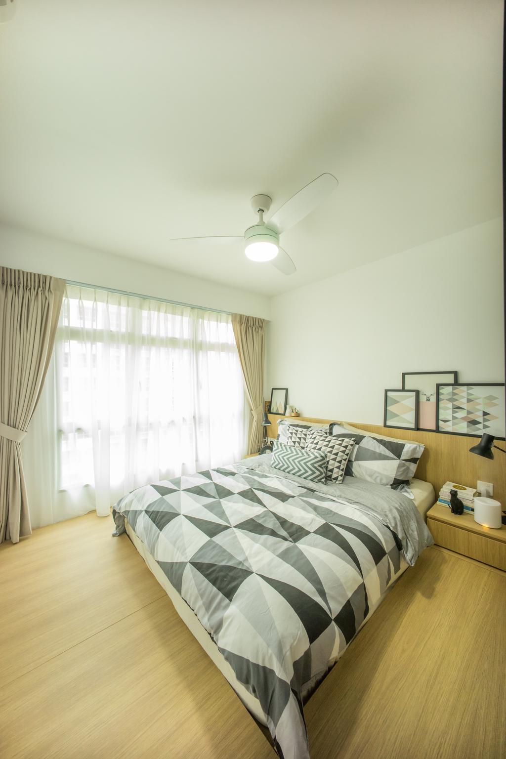 Scandinavian, HDB, Bedroom, Compassvale Drive (Block 216B), Interior Designer, Team Interior Design, Indoors, Interior Design, Room